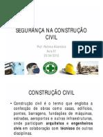 POLITEC AULA 01 PDF - SEGURANÇA NA CONSTRUÇÃO CIVIL