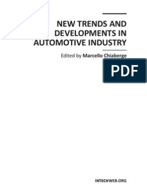 New Trends and Developments in Automotive Industry | Web