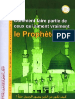 comment faire partie de ceux qui aiment vraiment le prophète