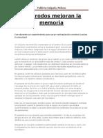 Electrodos Mejoran La Memoria