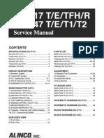 ALINCO DJ V17 47 Service Manual