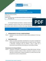 Orden del Día Pleno Ordinario junio 2012
