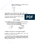 Física I - Apontamentos Teóricos - Trabalho, Energia e Potência