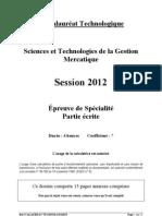 2012 Mercatique BTN STG