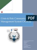CRCM saas Crisis & Risk Communication Management