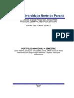 PORTFÓLIO INDIVIDUAL 3º SEMESTRE - ANÁLISE DE SISTEMAS - UNOPAR - ADSON JOSÉ HONORI DE MELO