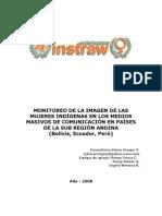 Monitoreo de la Imagen de las Mujeres Indígenas en los Medios de Comunicación (Bolivia, Ecuador, Perú)