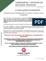 Comunicado SENTENCIA TRAGSATEC Antiguedad 18 06 2012