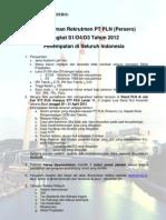 Pengumuman JF STT PLN 2012