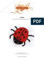 Free cross stitch pattern - Ladybug