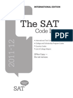 Sat International Code List Booklet