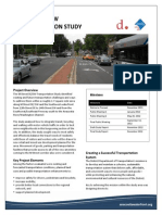 M Street SE SW Transportation Study Fact Sheet