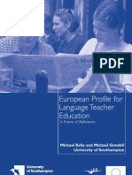 European Profile for Language Teacher Education