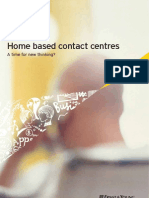 Home Based Contact Centres - A Time for New Thinking