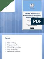 Lanin (2012) Strategi Peningkatan Kualitas Ilmiah Wikipedia Bahasa Indonesia - Presentasi