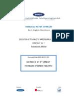 Method of Statment for Welding of Carbon Steel Pipes Dks-mst-c11-001 Rev 1