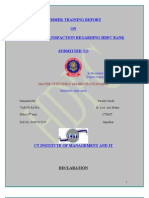 Customer Satisfaction Regarding Hdfc Bank