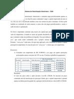 MATEMÁTICA FINANCEIRA - SISTEMA DE AMORTIZAÇÃO AMERICANO (SAA)