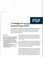 7 Strategies for Success in Governing an ACO