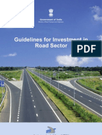 Guidelines for Investment in Road Sector Jan 2011