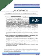 Modelo de Documentos Para Las Transformaciones y Adecuaciones