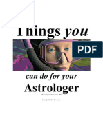 Exorcising Your Astrologer ( in Two Simple Steps )