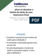 Impressora Fiscal - Como mudar o Horário de Verão