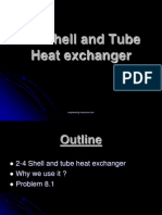 2-4 Shell and Tube Heat Exchanger (Problem)
