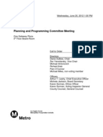June 20, 2012 Planning and Programming Committee Agenda