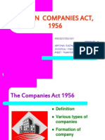 Indian Companies Act 1956