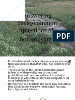 Session 3 Answering Basic/common Questions