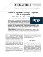 Mullerian Agenesis Etiology, Diagnosis, And Management