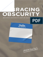 Embracing Obscurity - Sample Chapter