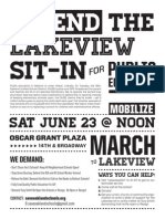 Lakeview Sit-In Rally June 23