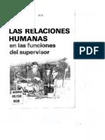 Las Relaciones Humanas en Funciones Del Superivisor