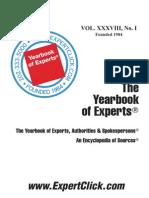 Expert Book --- The Yearbook of Experts,Authorities & Spokespersons - June 2012