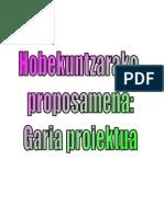 GARIA PROIEKTUA