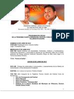 Programación Oficial 34 Festival Cuna de Acordeones 2012