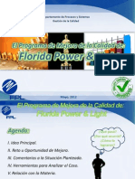 El Programa de Mejora de La Calidad de Florida Power and Light