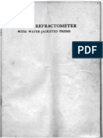 Hilger - Abbe Refractometer Manual. 1918