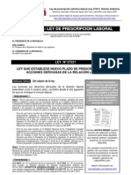 LEY 27321 Ley de Prescripcion Extintiva LABORAL