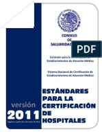 Estandares para Cert Hospitales 2011
