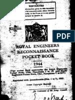 13710 - R.E. Recce Pocket Book