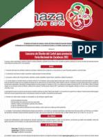 Convocatoria al Concurso del Cartel para la edición 2012 de la FENAZA
