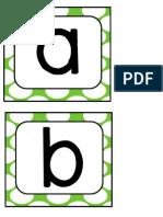 Green Polka Letters