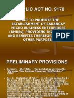 Barangay Micro Business Enterprise (Bmbe)