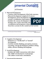 OH 5 Developmental Domains