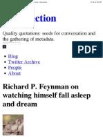Genius Physicist R. Feynmann Writes Poetry