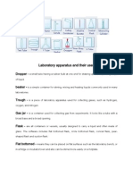 Laboratory Apparatus and Their Uses