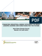 Anil Kumar - Financing Industrial Energy Efficiency in India Lessons Learned and Directions for the Future